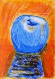 Яблоко покрашенное рукой Стоковые Фотографии RF
