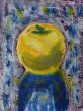 Яблоко покрашенное рукой Стоковые Изображения