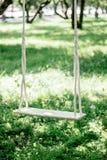 Ручной работы качания на дереве на задворк Стоковые Фото