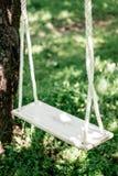 Ручной работы качания на дереве на задворк Стоковые Изображения