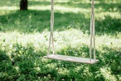 Ручной работы качания на дереве на задворк Стоковая Фотография RF