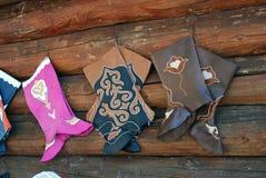 Ручной работы кожаные ботинки Стоковое Изображение RF