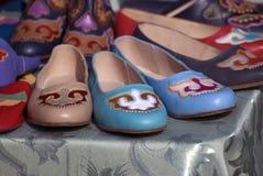 Ручной работы кожаные ботинки Стоковое фото RF