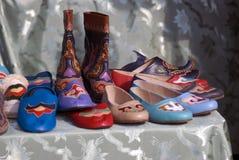Ручной работы кожаные ботинки Стоковая Фотография