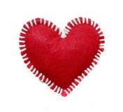 Ручной работы красное сердце изолированное на белой предпосылке, закрепляя objec Стоковые Изображения RF