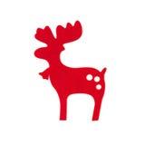 Ручной работы красный северный олень рождества Стоковые Изображения RF