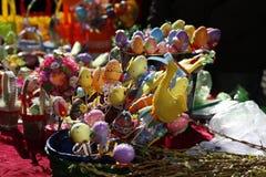 Ручной работы пасхальные яйца красочные Стоковая Фотография RF