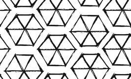 Ручной работы Рамазан Kareem текстурировал вектор безшовная картина с современным украшением специально для Рамазана желая и Стоковые Изображения RF