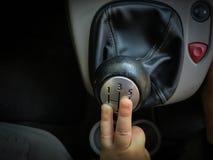 Ручной gearshift Стоковое Изображение