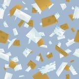 рушиться почты предпосылки безшовный Стоковое Изображение