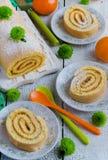 Рулада печенья с вареньем Стоковые Фото