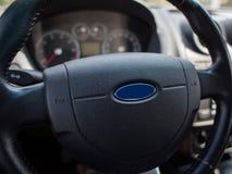 Рулевое колесо автомобиля Стоковые Изображения RF