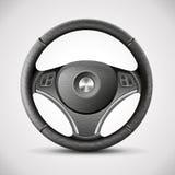 Рулевое колесо, детальный реалистический вектор иллюстрация штока