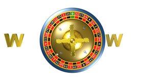 Рулетка, игра казино, королевские игры, анимация видеоматериал