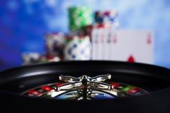 Рулетка казино и обломоки играть Стоковое Фото