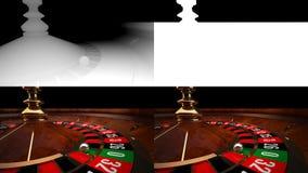 рулетка казино 3D с каналом и Z-глубиной альфы Стоковое Изображение RF