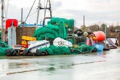 Рыбацкая лодка в гавани стоковое изображение rf