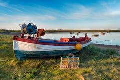 Рыбацкая лодка на святом острове Стоковое Изображение