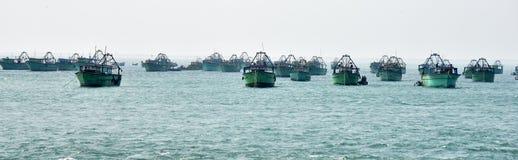 Рыбацкая лодка на Kanyakumari стоковые изображения rf
