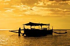 Рыбацкая лодка Banca Стоковые Изображения
