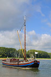 Рыбацкая лодка, Rhein, река Рейн, Германия Стоковое Фото