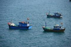 Рыбацкая лодка Вьетнама, Phu Yen Вьетнам Стоковые Фотографии RF