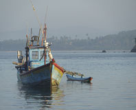 Рыбацкая лодка в Шри-Ланке Стоковое фото RF
