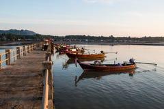 Рыбацкая лодка на море Стоковое Фото