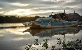 Рыбацкая лодка реки Стоковая Фотография