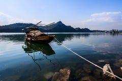 Рыбацкая лодка Рекы Янцзы Стоковое фото RF