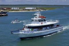 Рыбацкая лодка хартии Starlight в Wildwood, Нью-Джерси Стоковое Изображение RF