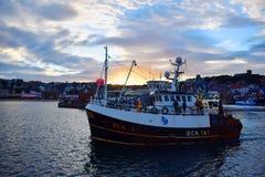 Рыбацкая лодка Scarborough Стоковое Изображение RF