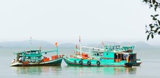 Рыбацкие лодки Вьетнам Стоковая Фотография RF