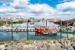 Рыбацкие лодки в гавани Howth стоковое фото rf