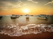 Рыбацкие лодки в океане Стоковое Изображение RF