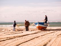 Рыбацкие лодки в Тунисе на Hammamet Стоковое Изображение RF