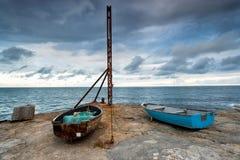 Рыбацкие лодки на Портленде Стоковое фото RF