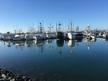 Рыбацкие лодки Сан-Диего стоковые фото