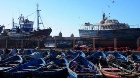 Рыбацкие лодки в порте Essaouira Стоковые Изображения RF