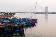 Рыбацкие лодки в Da Nang, Вьетнаме Стоковые Фотографии RF
