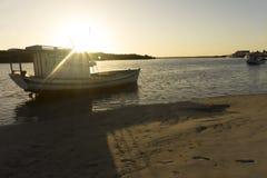 Рыбацкие лодки в Guamare, RN, Бразилии стоковые фото