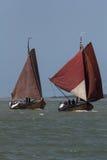 Рыбацкие лодки года сбора винограда Botters Стоковое Изображение
