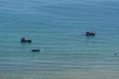 Рыбацкие лодки на море в Phu Quoc, Вьетнаме Стоковое Изображение