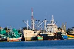Рыбацкие лодки причалили 2 Стоковые Изображения RF