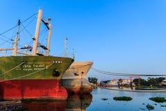 Рыбацкие лодки причалили 3 Стоковая Фотография