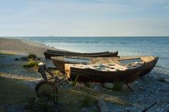 Рыбацкие лодки, Швеция стоковая фотография rf