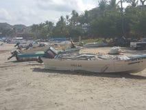 Рыбацкие лодки Playa Наярит стоковые фотографии rf