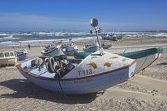 рыбацкие лодки Vorupoer Дания Стоковая Фотография RF
