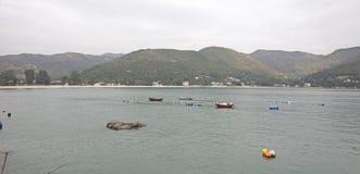 Рыбацкий поселок в Гонконге Азии Стоковое Изображение