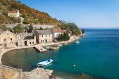 Рыбацкий поселок в Хорватии Стоковое Фото
